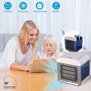 Image 4 - MINI AIR Conditioner พัดลมระบายความร้อนแบบพกพา Humidifier เครื่องปรับอากาศ Cooling Desktop พัดลมสำหรับ Home Offic