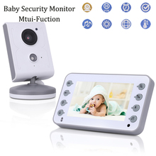 4.3inch Baby Monitor Baby Care Device 2-Way Talk Multi-Camera Wireless Baby Video Monitor Night Vision Temperature Alarm Display купить дешево онлайн