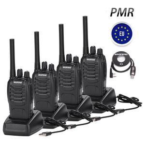 Image 1 - 4PCS BF 88E PMR Baofeng 446 Walkie Talkie 0.5 W UHF 446 MHz 16 CH Presunto Handheld Two way rádio com Carregador USB DA UE para O Usuário
