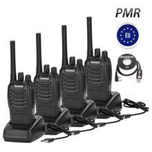 4PCS Baofeng BF 88E PMR 446 ווקי טוקי 0.5 W UHF 446 MHz 16 CH כף יד חם דו דרך רדיו עם USB מטען עבור האיחוד האירופי משתמש