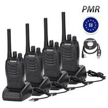 4PCS Baofeng BF 88E PMR 446 Walkie Talkie 0.5 W UHF 446 MHz 16 CH Handheld Ham Two way Radio with USB Charger for EU User