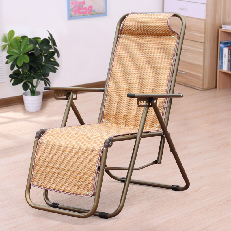 Summer Cool Office Folding Chair Home Lunch Break Siesta Chair Portable Single Small Simple Ultra Light Outdoor