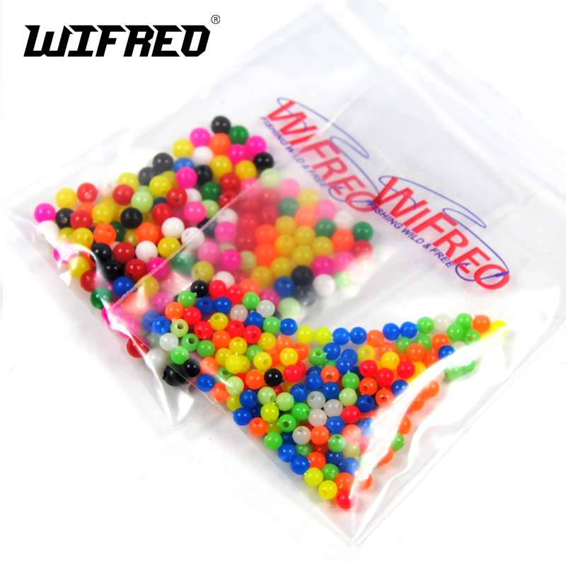 Wifreo 200PCS Multiple Color Mixed Fishing Rigging Plastic Beads Stops for Lure Spinners Sabiki DIY 4mm 5mm 6mm 8mm