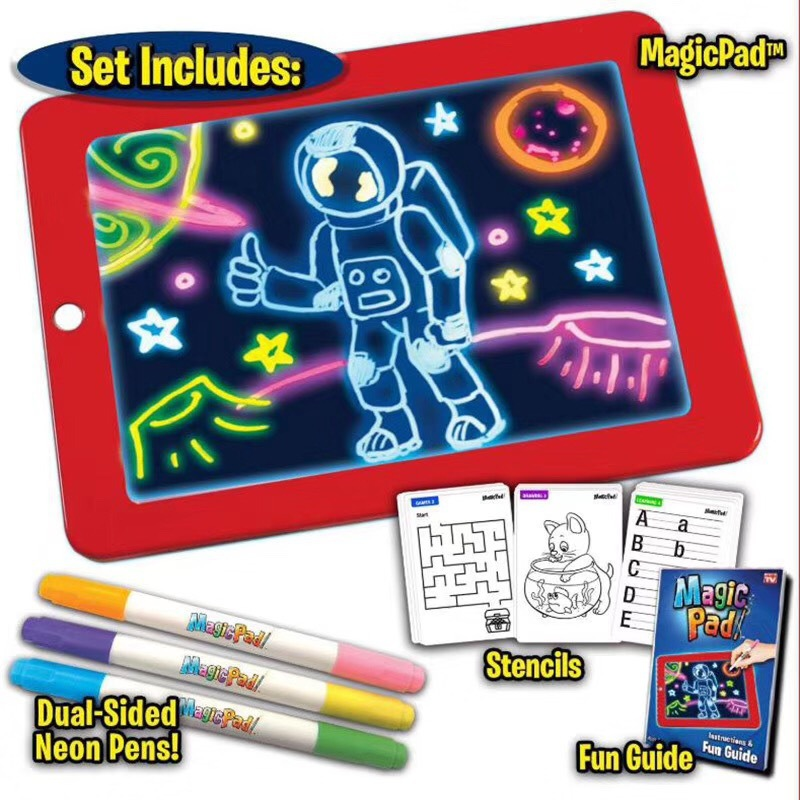 3D Magic Pad Reuse Create Art That Glows Magic Board Children Writing Board Clipboard Gift Response Creative Toy Gifts