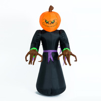 Giant Halloween Inflatable LED Lighted Decoration Pumpkin Ghost Grim Reaper Scary Holloween Party Decor Outdoor Inflatable Toys