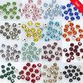 100p 3 мм 36-цветной стеклянный камень для шитья, стразы, бриллианты, драгоценности, серебряная основа, 4 искусственные аксессуары для одежды
