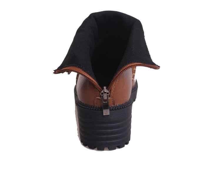 Artı boyutu moda kadın ayakkabı 2019 kış sonbahar rahat kadın daireler sıcak çizmeler kadın kar botas ayakkabı Mujer zapatos ghn890