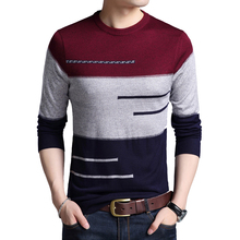 2020 Brand Male Pullover Men Winter Sweater O-neck Knitted Sweater Striped Mens Knitwear Clothes Hombre Camisa Masculina