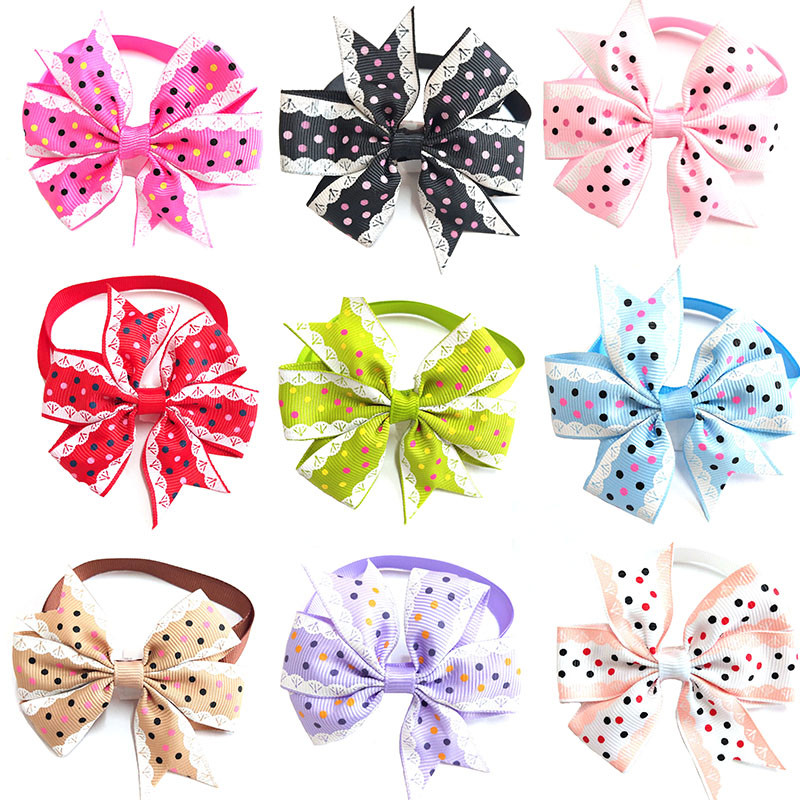 50pcs Pet Dog Grooming Bowties Product Dog Cat Bow Tie Dog Accessories Puppy Dog Cat Bow Tie for Small Medium Dog Accessories