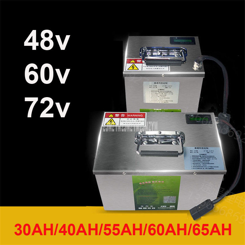48V/60V/<font><b>72V</b></font> Lithium <font><b>Battery</b></font> For Two/Three/Four Wheel Electric Vehicle Electric Bike Bicycle <font><b>Battery</b></font> 30AH/40AH/55AH/<font><b>60AH</b></font>/65AH image