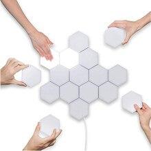 1-10pcs sensível ao toque lâmpada de iluminação lâmpadas hexagonais quantum lâmpada modular led night light hexagons decoração criativa lâmpada