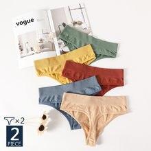2 pçs/set vogue calcinha roupa interior feminina g-string cuecas femininas sem costura cuecas cuecas íntimas sexy lingerie t-back pantys