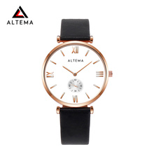 Altema Men Watch Casual Slim Waterproof Business PU Leather Band Fashion Watches Luxury Quartz Relogio Masculino