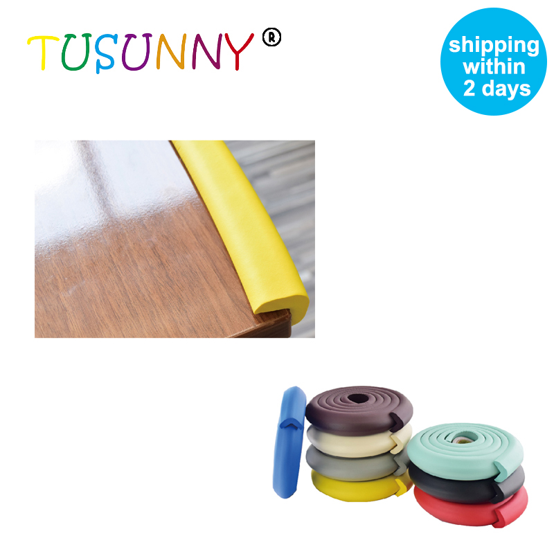 TUSUNNY 2M Baby Safety Corner Protector Table Corner Protector Furniture Corners Protector Silicone Covers Corner Protection