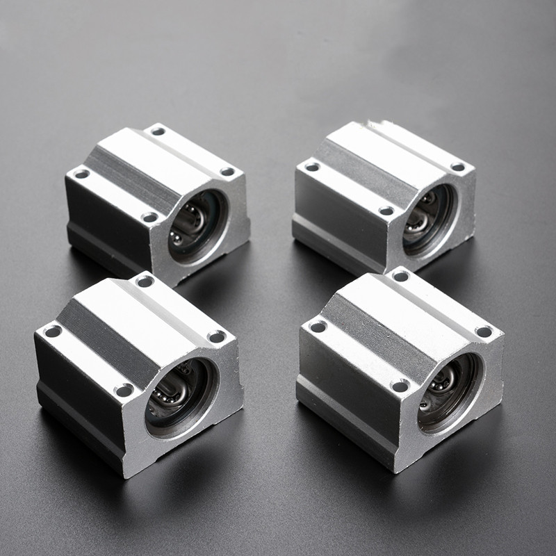 Bloco de rolamento de esferas linear 1 pçs scs6uu scs10uu scs12uu para cnc impressora 3d eixos haste peças scs6uu sc8uu 8mm cnc roteador