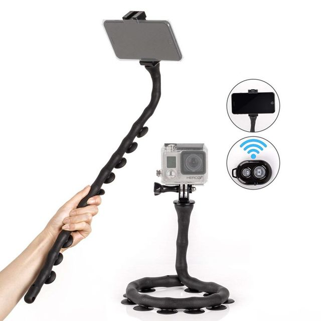Bendable Flexible Selfie Stick Waterproof Handheld Smartphones Monopod Stand Tripod Mount Suction Cup Bluetooth Remote For Phone