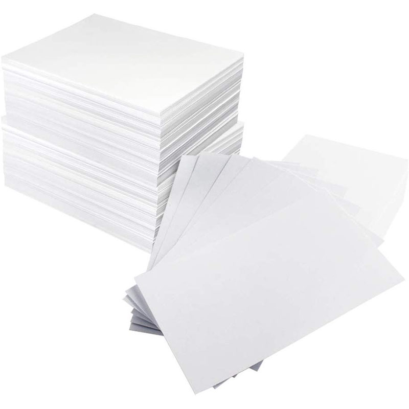 Business Card Paper 500-Count Index Cards Paper Blank Playing Paper Cards Name Cards Paper (White) image