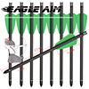 6/12/24PCS 16 Inch 41.5CM Crossbows Bolts 2-inch Green Feather Pure Carbon Arrows For Shooting Archery Hunting