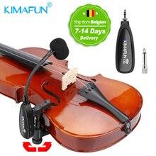 KIMAFUN Violine mikrofon 2,4G Wireless Instrument Schwanenhals Mikrofon Professionelle Musical Kondensator Mikrofon für Violine