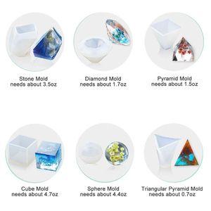 Image 3 - Grands moules en Silicone pour bricolage époxy, y compris le moule en pierre Cube, moule de moulage de résine, 1 ensemble
