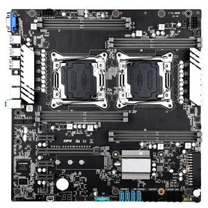 Image 2 - X99 scheda madre dual CPU LGA 2011 v3 v4 E ATX USB3.0 SATA3 VGA con dual Xeon scheda madre con slot per M.2 dual Giga LAN