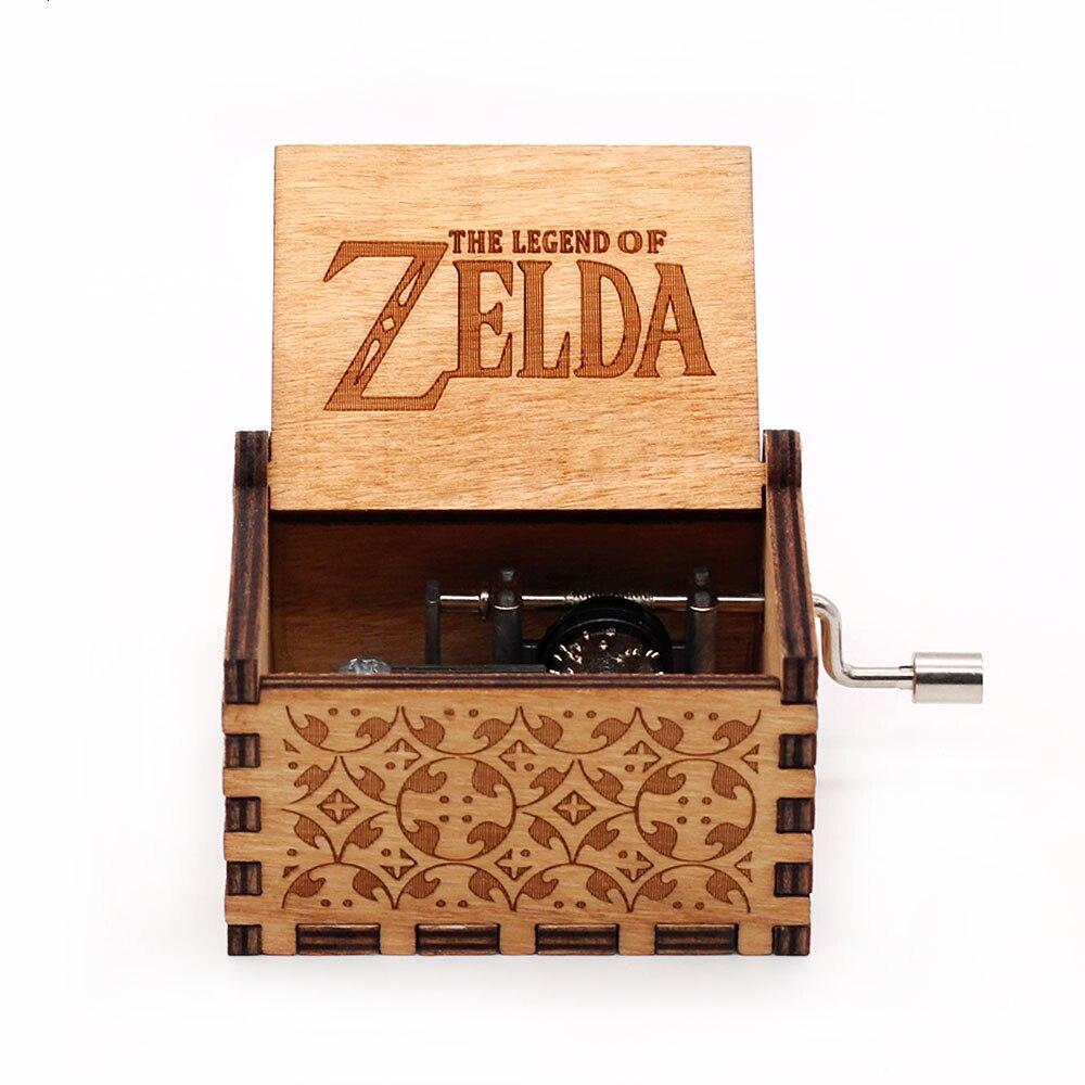 Горячая античная резная деревянная рукоятка Симпсоны игра трон музыкальная шкатулка подарок на день рождения Шкатулка анонимичность украшения Звездные войны - Цвет: zelda