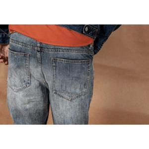 Image 4 - بنطلون جينز رجالي جديد سيومزاج موضة 2020 بطول الكاحل بنطلون جينز ممزق عتيق مغسول مقاس كبير من الجينز 190360