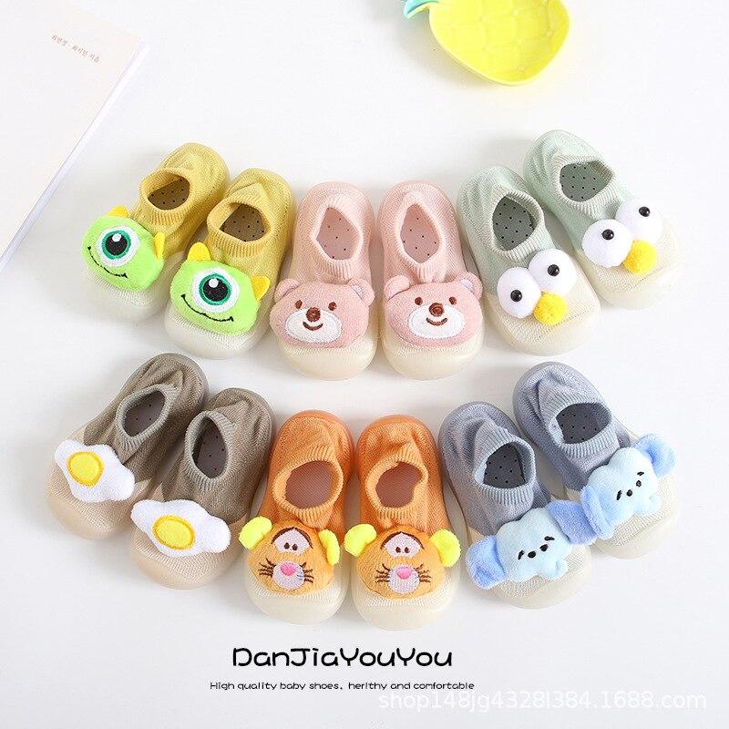 2020 Baby Shoes Newborn First Walker Toddler Children Kids Baby Cartoon  Rabbit Ears Squeaky Single Shoes Sneaker