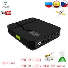 Vmade DVB T2 Full HD 1080P dijital karasal alıcı DVB T MPEG 4 TV Tuner alabilir desteği 3D arayüzü Mini Set üstü kutusu