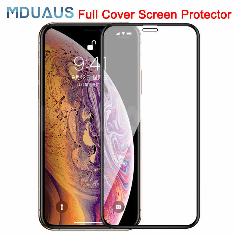 9D Protective Tempered Glass On The For iPhone 6 6s 7 8 Plus X 10 Glass Screen Protector Soft Edge Curved For iPhone XR XS MAX