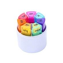 Таблетка Радуга цветной запечатывания путешествия медицина коробка портативный органайзер гигиенический держатель Контейнер для таблеток таблетки случае еженедельно