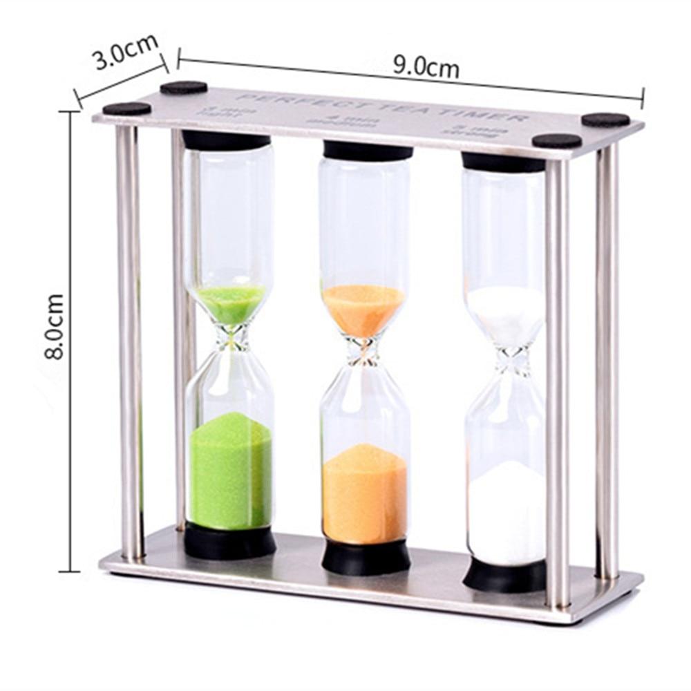Купить с кэшбэком New Creative Hourglass Timer Hourglass Stainless Steel Fine Living Ornaments Glass Sandglass Birthday Gifts 3/4/5 Minutes