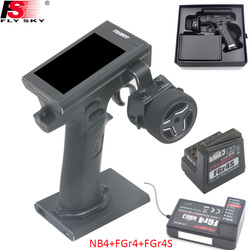 Flysky FS-NB4 2.4G 4CH Nobile Radio Remote di Controllo Trasmettitore FGR4 e FGR4S Ricevitore HVGA 3.5 TFT A Colori Dello Schermo per RC Auto Barca