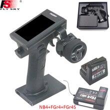 """Flysky FS NB4 de Control remoto para coche y barco teledirigido, 2,4G, 4 canales, Noble, receptor FGR4 y FGR4S, HVGA, pantalla a Color TFT de 3,5"""""""