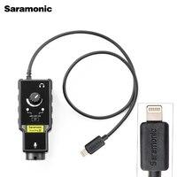 Saramonic SmartRig Di XLR Mikrofon & 6 3mm Gitarre Interface mit IOS MFi Zertifiziert Blitz Eingang für iPhone X 8 7 7s
