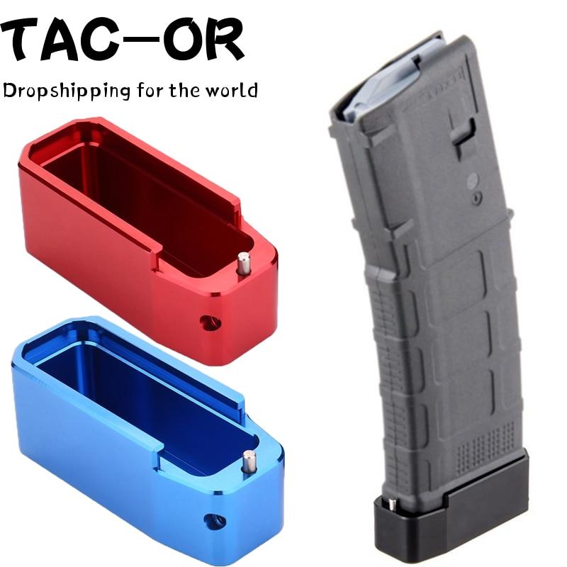 Тактический 2 шт. CNC алюминий. 223 5,56 PMAG Журнал Расширение Mag база Pad для охоты M4 AR15 винтовка аксессуар дропшиппинг