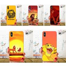 For Huawei Honor Nova Note 5 5I 8A 8X 10 Pro 9X For Moto G G2 G3 G4 G5 G6 G7 Plus Soft TPU Covers Capa Fashion The Lion King(China)