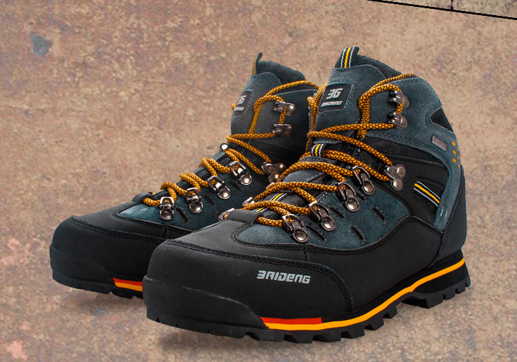 Hiking-Shoes TRAVEL Outdoor Waterproof Walking-Trekking Winter Genuine-Leather Mens Off-Road title=