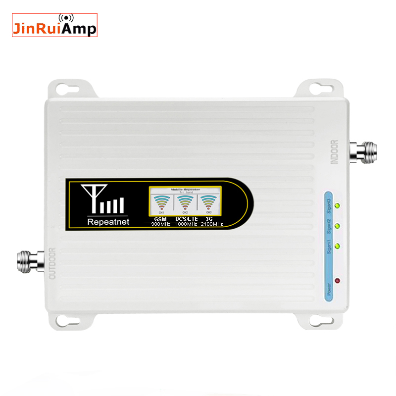 900 1800 2100mhz Cell Phone Booster Tri Band Mobile Signal Amplifier 2G 3G 4G LTE Cellular Repeater GSM DCS WCDMA