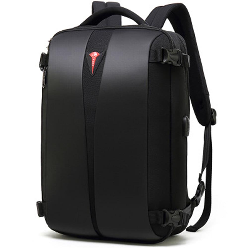 POSO Backpack 15.6 Inch USB Laptop Backpack Multifunction Nylon Waterproof Backpack Fashion Business Bag Student Backpack