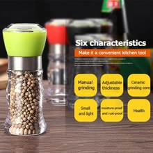 Multiple Color Kitchen Manual Grinding Bottle Salt Pepper Mill Grinder Spice Seasoning Jar Tooling Bottle(China)