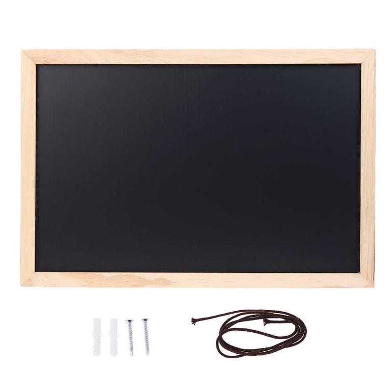 New Rectangle Hanging Wooden Message Blackboard Chalkboard Wordpad Advertising Board