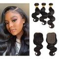 AnnaJoy Natural Black Bundles Brazilian Hair BodyWave Bundles 1/3/4 Bundle Deals 100% Human Hair For Woman Remy Hair Extension