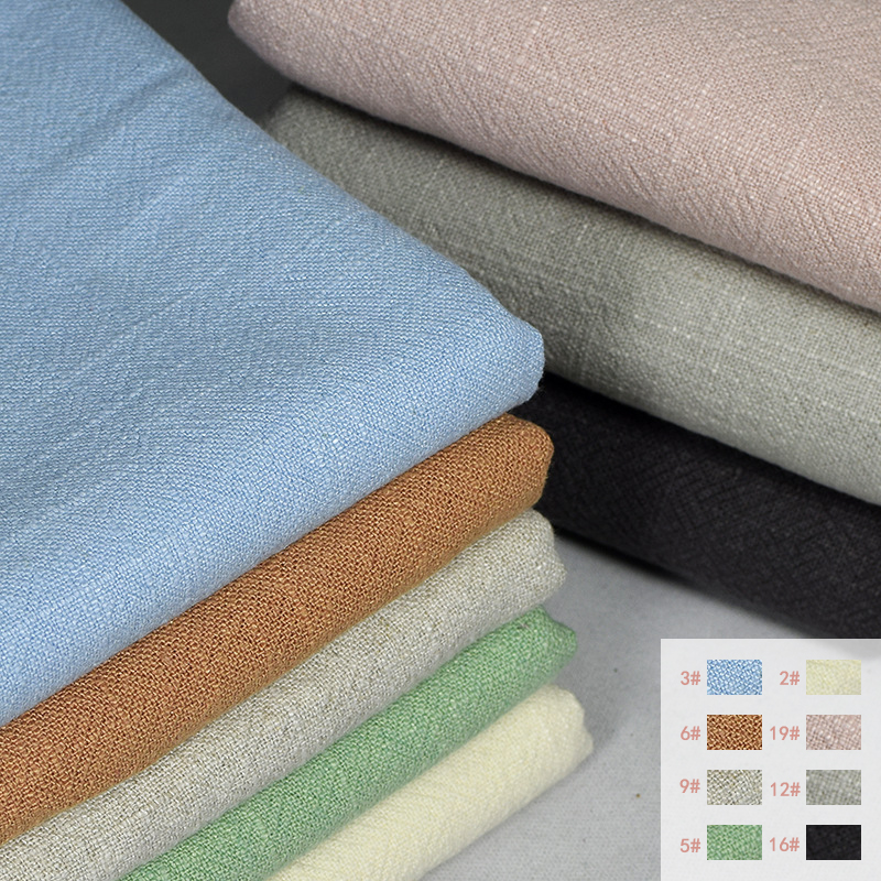 21 Color Options Fabrics For Clothing/DIY/ Home Crafts/Garden Artwork Woven Cotton-Linen Fabric (Width: 130CM)