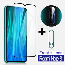 Szkło hartowane 3 w 1 dla Redmi Note 8 9 pro max uwaga 7 8t osłona obiektywu aparatu metalowy pierścień dla Redmi note 8 pro 9s szkło tanie tanio KINGZALIN CN (pochodzenie) Przedni Film XIAOMI Redmi uwaga 7 Redmi Note 9 Redmi Note 9 Pro Telefon komórkowy Tempered Glass for Redmi Note 7