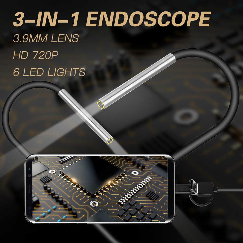 Camera Nội Soi 720 P HD 3.9 Mm Đường Kính Trong Phát Hiện Camera Cho Tpye Giao, android Giao Diện Và Máy Tính Máy Tính Liên