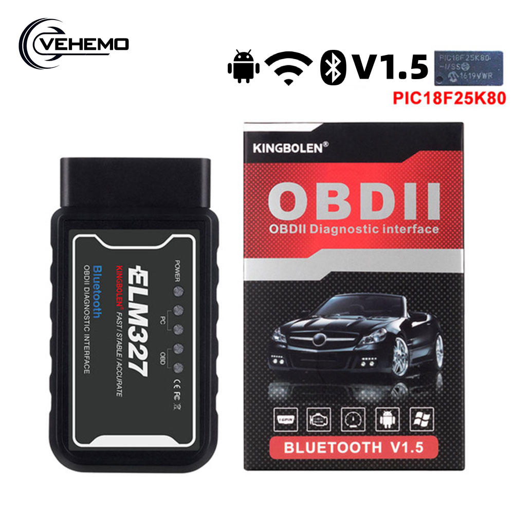 elm327 v1.5 OBD2 Scanner Car Wifi Bluetooth Diagnostic Tool For iPhone Android Phone OBD 2 II <font><b>elm</b></font> <font><b>327</b></font> V <font><b>1.5</b></font> Auto Code Scanner image