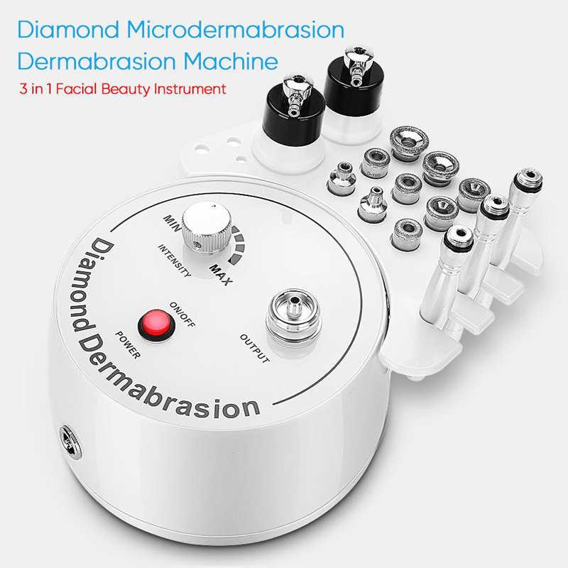 3 in 1 elmas mikrodermabrazyon dermabrazyon makinesi yüz güzellik enstrüman ev kullanımı için siyah nokta sivilce temizleme makinesi