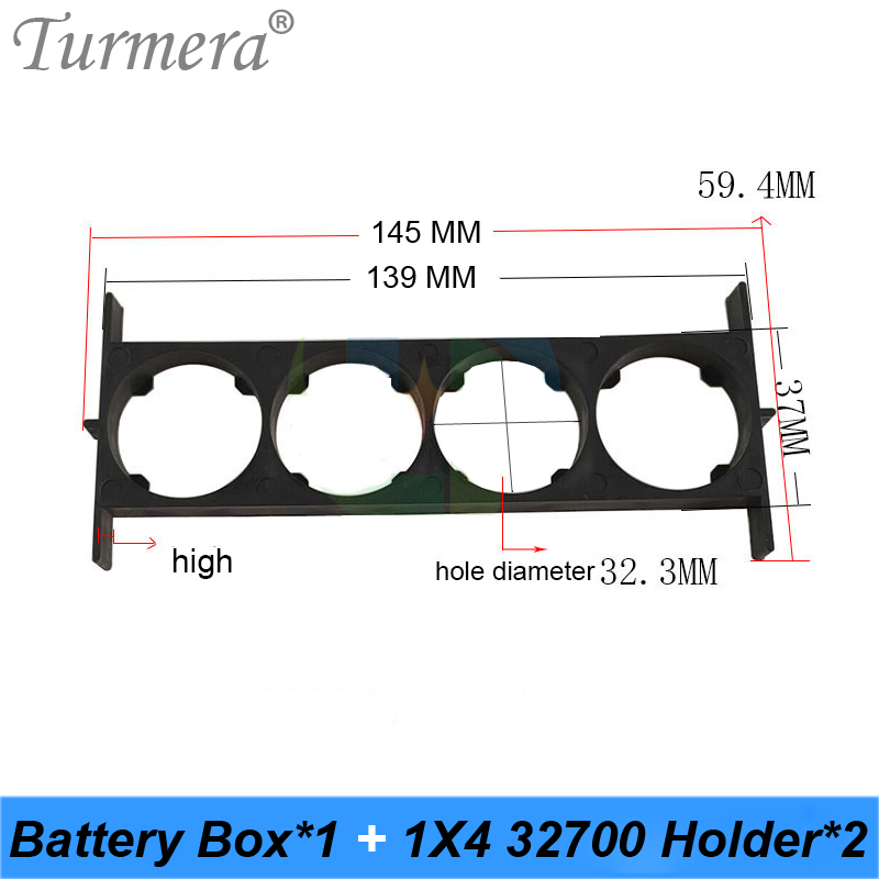Turmera <font><b>32650</b></font> 32700 1*4 <font><b>Battery</b></font> <font><b>Holder</b></font> <font><b>Bracket</b></font> Cell Safety Anti Vibration Plastic <font><b>Brackets</b></font> For <font><b>32650</b></font> 32700 <font><b>Battery</b></font> Pack 10Pairs image