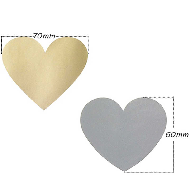 300Pcs Scratch-Resistente Rivestimento In Carta Sticker Magia Creativa Rivestimento In Carta 60X70Mm Amore a Forma di Cuore